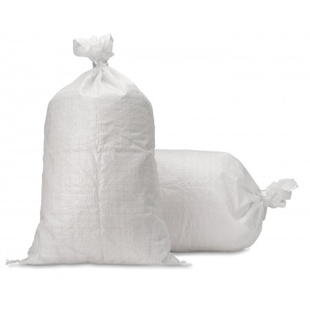 Empty White Plastic Sandbags (Pack of 50)