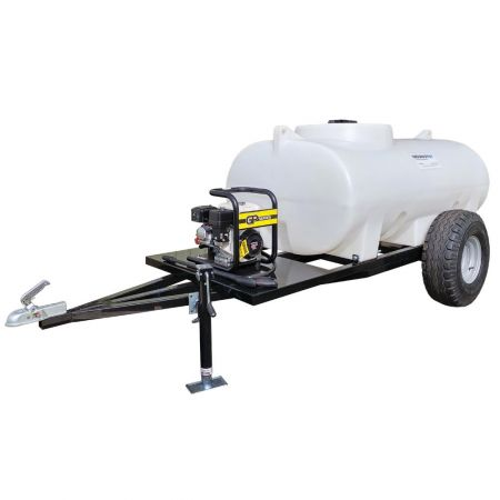 1200L Site Tow Interpump Pressure Washer Bowser - 10LPM - 2175PSI - Petrol - Recoil Start